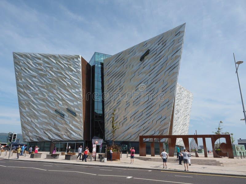 Centro titánico de Belfast foto de archivo libre de regalías