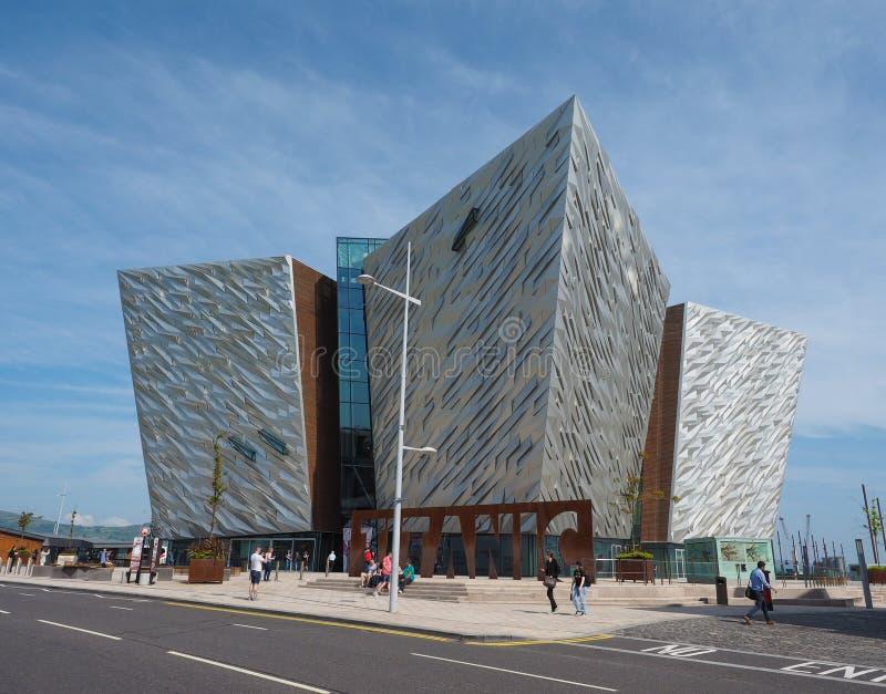 Centro titánico de Belfast fotos de archivo libres de regalías