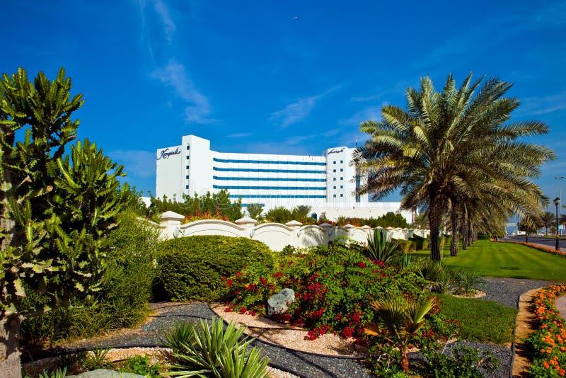 Centro turístico de Ajman Kempinski - hotel de cinco estrellas lujoso en Ajman, UAE imágenes de archivo libres de regalías