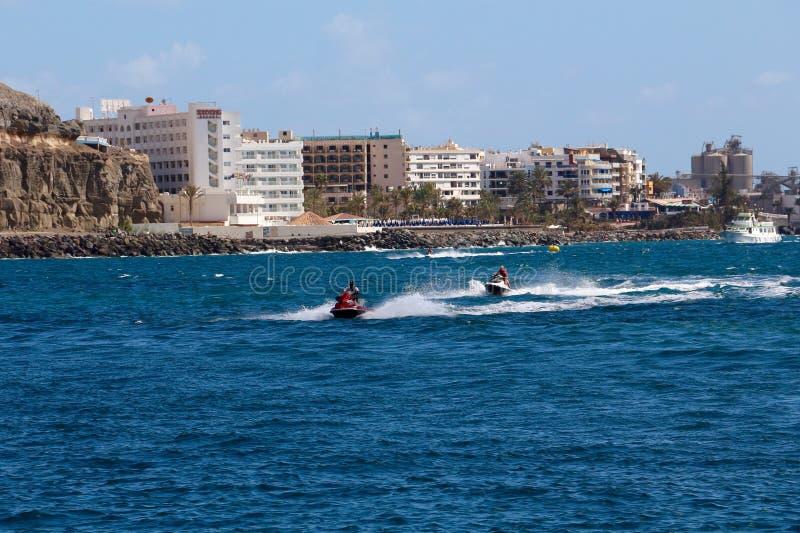 Centro turístico de Anfi Del Mar cerca de Arguineguin en Gran Canaria, España fotos de archivo