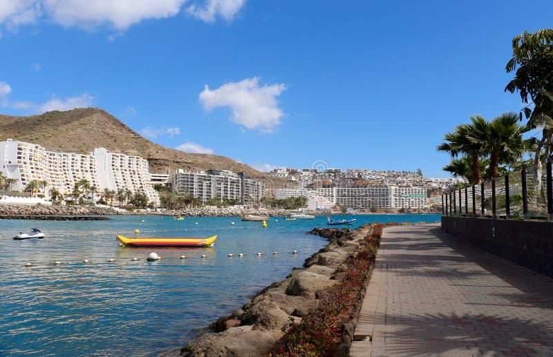 Centro turístico de Anfi Del Mar cerca de Arguineguin en Gran Canaria, España imagen de archivo libre de regalías