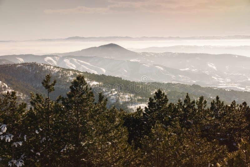 Centro turístico de Divcibare del paisaje del invierno fotografía de archivo