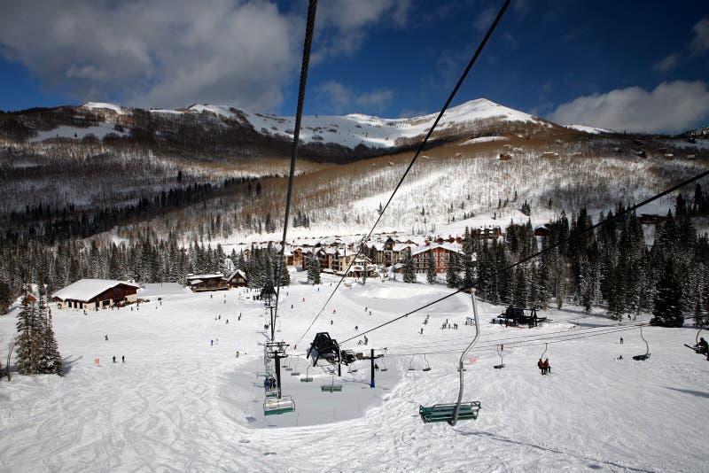 Centro turístico de esquí foto de archivo libre de regalías