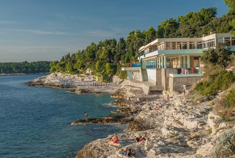 Centro turístico de las pulas, Croacia fotografía de archivo