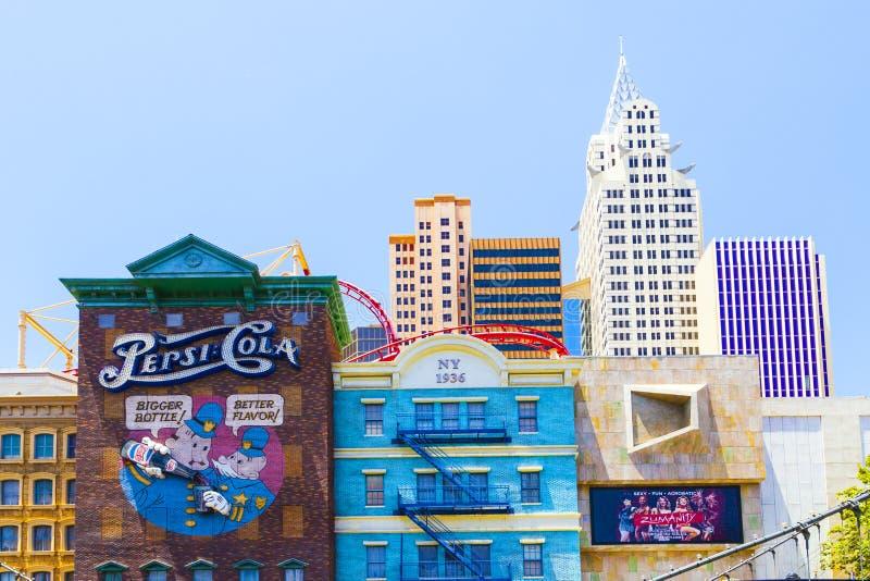 Centro turístico de Las Vegas fotos de archivo libres de regalías