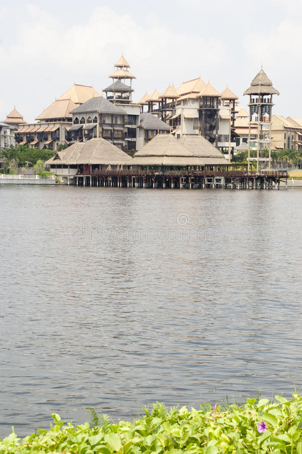 Centro turístico de lujo tropical asiático fotos de archivo