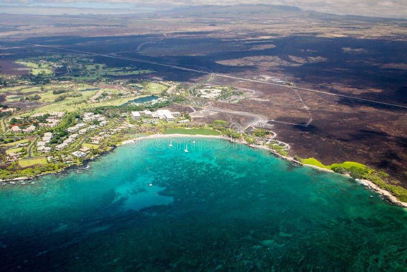 Centro turístico de Marriott de la playa de Waikoloa, isla grande, Hawaii foto de archivo libre de regalías