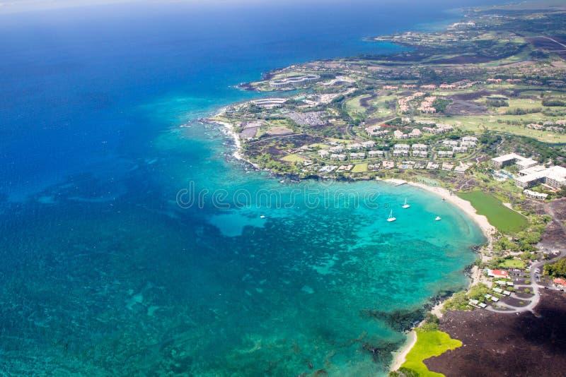 Centro turístico de Marriott de la playa de Waikoloa, isla grande, Hawaii foto de archivo