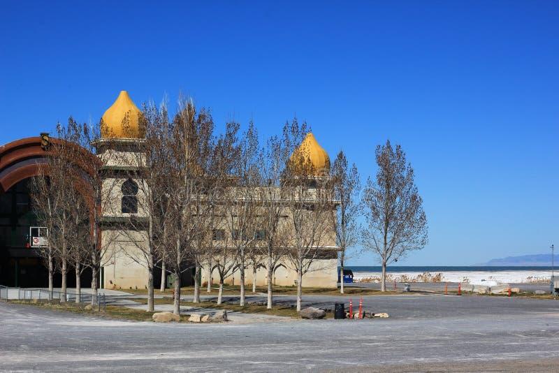 Centro turístico de Saltair en el Great Salt Lake imagen de archivo