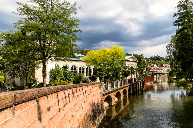 Centro turístico de salud famoso mún Kissingen en Baviera, Alemania fotografía de archivo libre de regalías