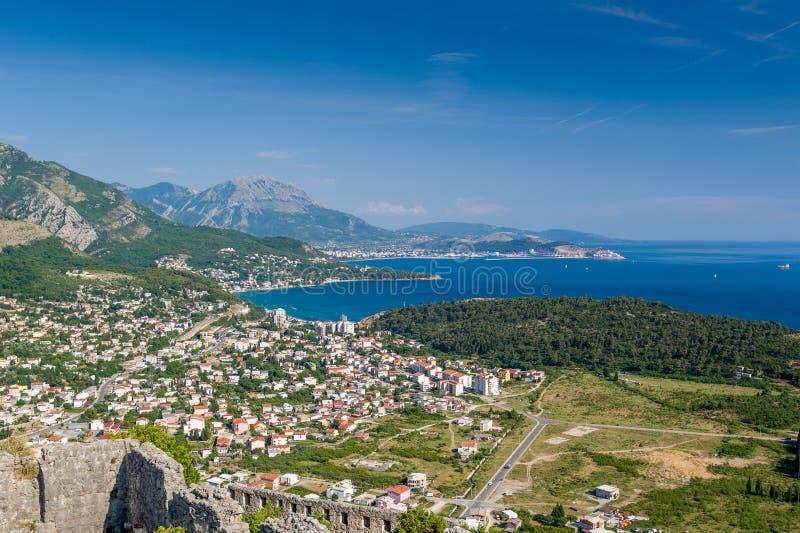 Centro turístico de Sutomore, Montenegro fotos de archivo libres de regalías