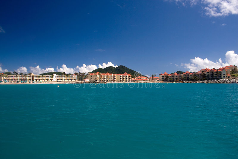 Centro turístico del Caribe fotografía de archivo