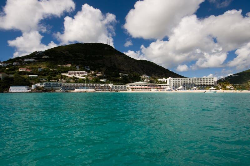 Centro turístico del Caribe imagen de archivo