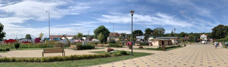 Centro turístico del pueblo foto de archivo