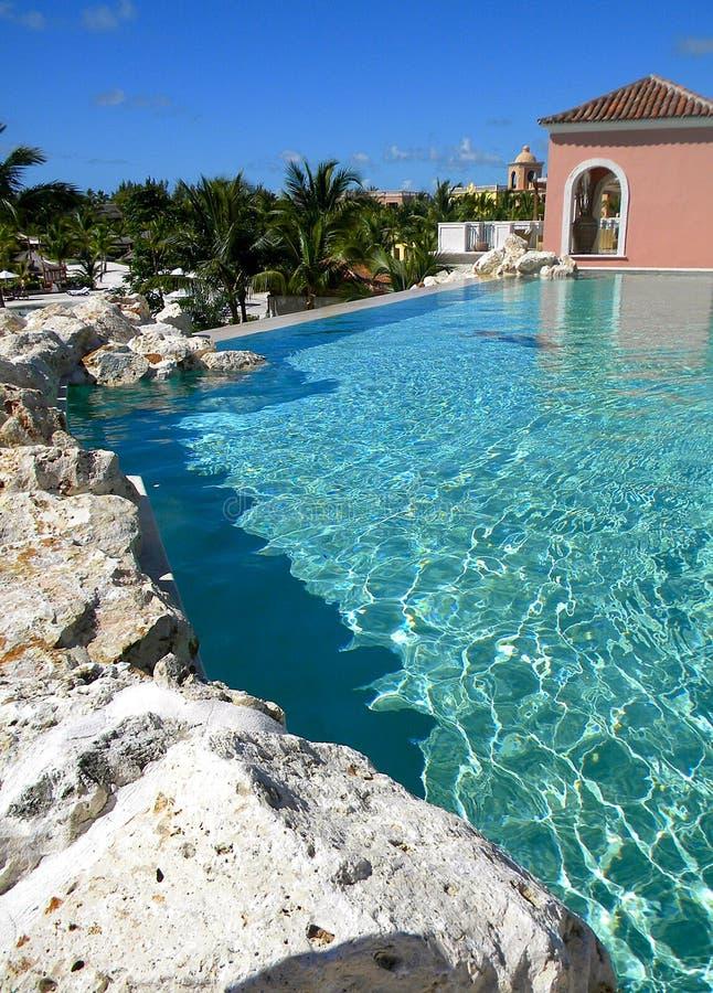 Centro turístico dr del santuario de los secretos de la piscina del infinito fotografía de archivo