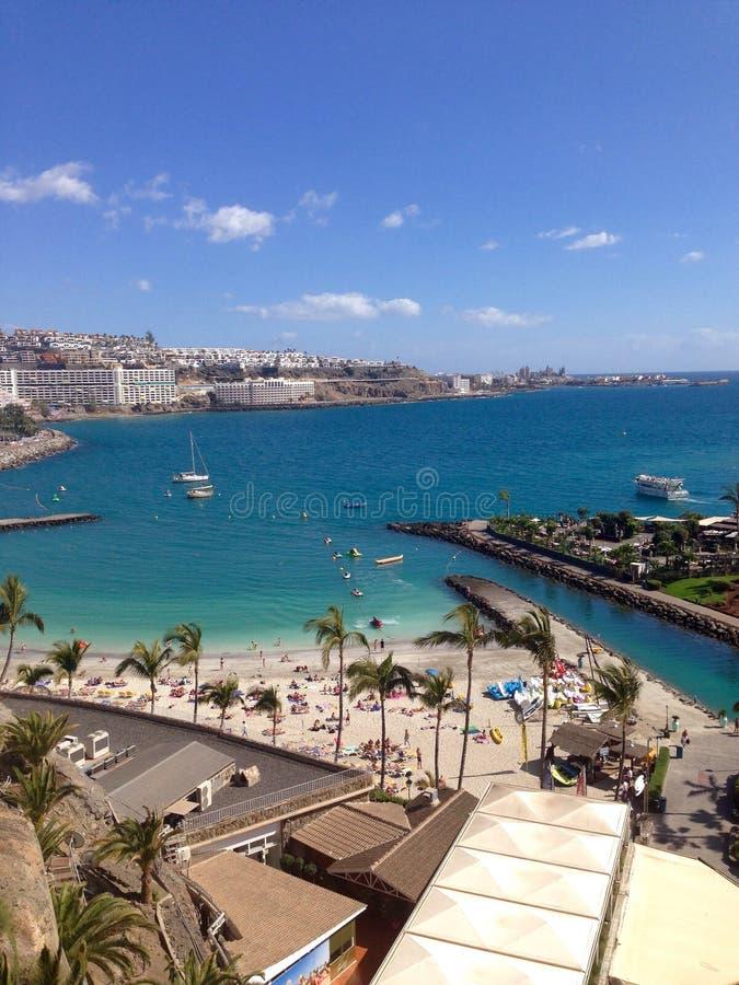 Centro turístico en Canarias españolas fotografía de archivo