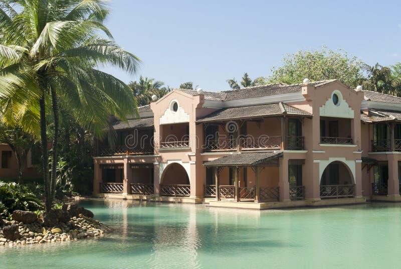 Centro turístico exótico en Goa del sur imagenes de archivo