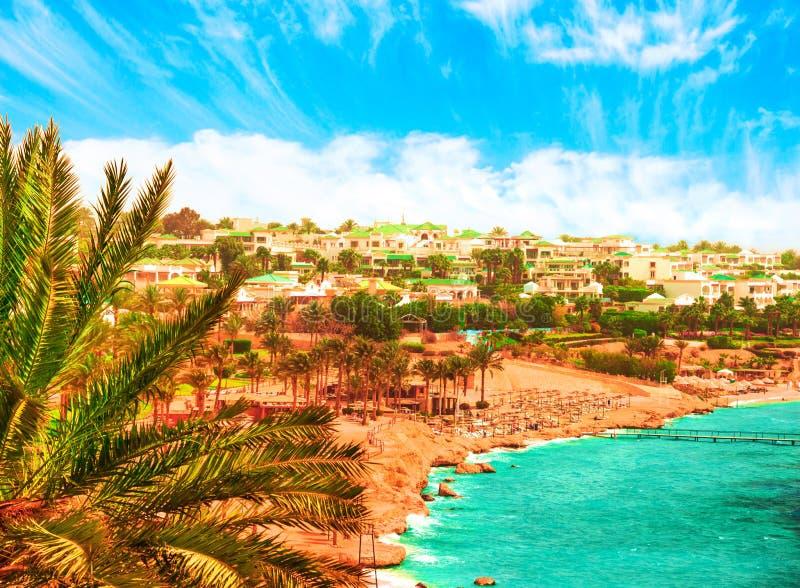 Centro turístico hermoso en el Mar Rojo de Egipto fotografía de archivo libre de regalías