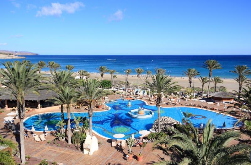 Centro turístico hermoso en Fuerteventura, islas Canarias. fotografía de archivo