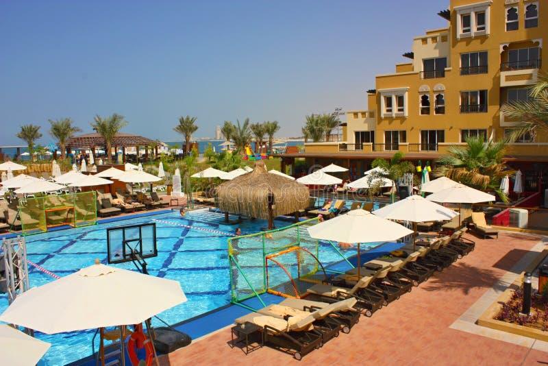 Centro turístico lujoso del hotel imagen de archivo