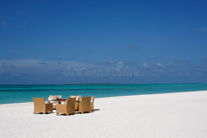 Centro turístico Maldives de Kanuhura fotos de archivo libres de regalías