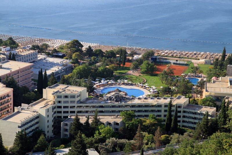 Centro turístico mediterráneo foto de archivo