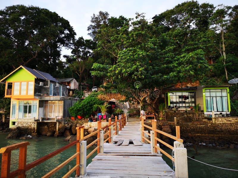 Centro turístico tranquilo del seaview para el viajero imagen de archivo libre de regalías