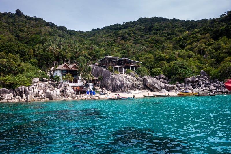 Centro turístico tropical en Ko Tao fotografía de archivo libre de regalías