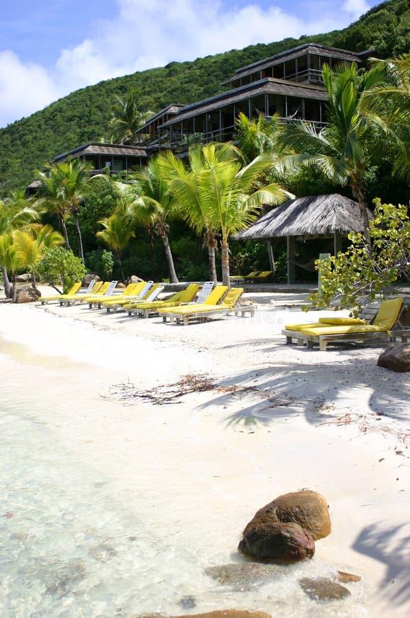 Centro turístico tropical idílico imagenes de archivo