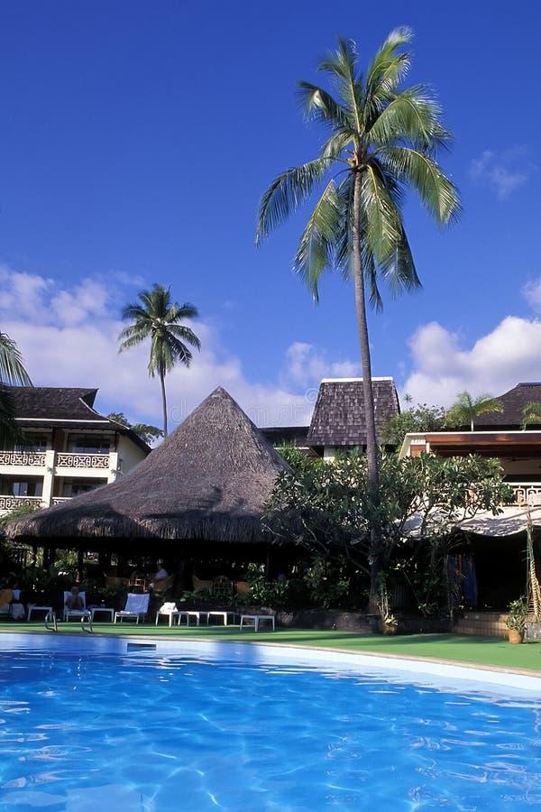 Centro turístico tropical, Tahití. imagen de archivo libre de regalías