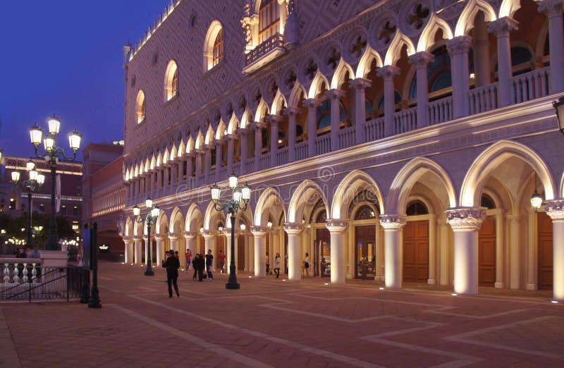 Centro turístico veneciano igualando, Macao S de la copia del palacio del ` s del dux del casino de Macao A r fotos de archivo