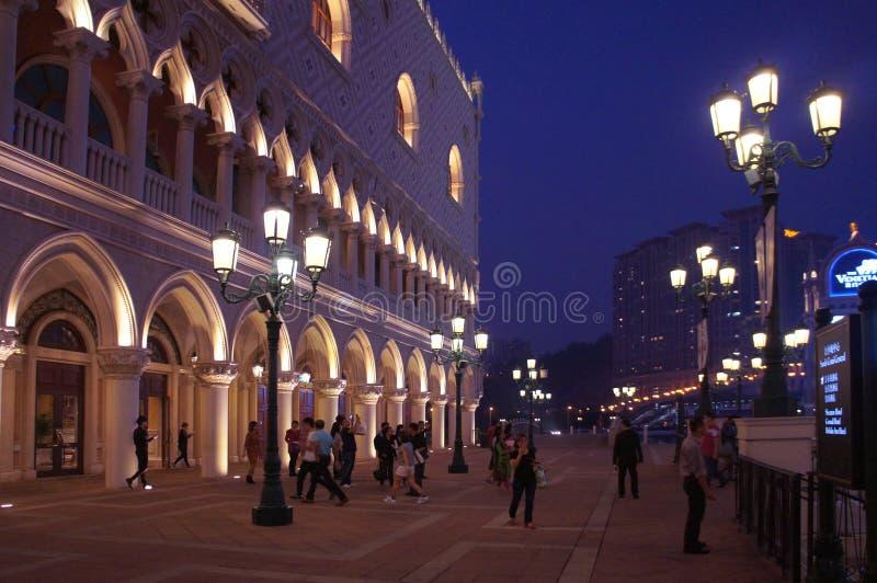 Centro turístico veneciano igualando, Macao S de la copia del palacio del ` s del dux del casino de Macao A r imágenes de archivo libres de regalías