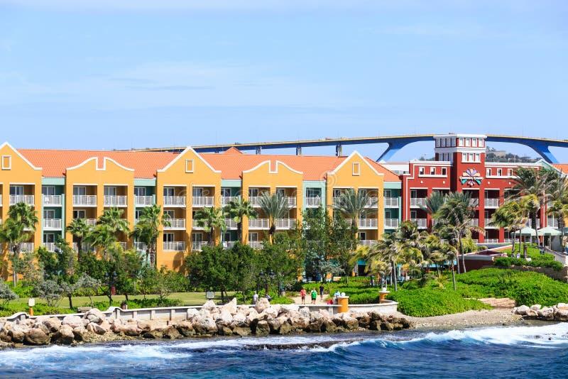 Centro turístico y casino de Curaçao fotografía de archivo