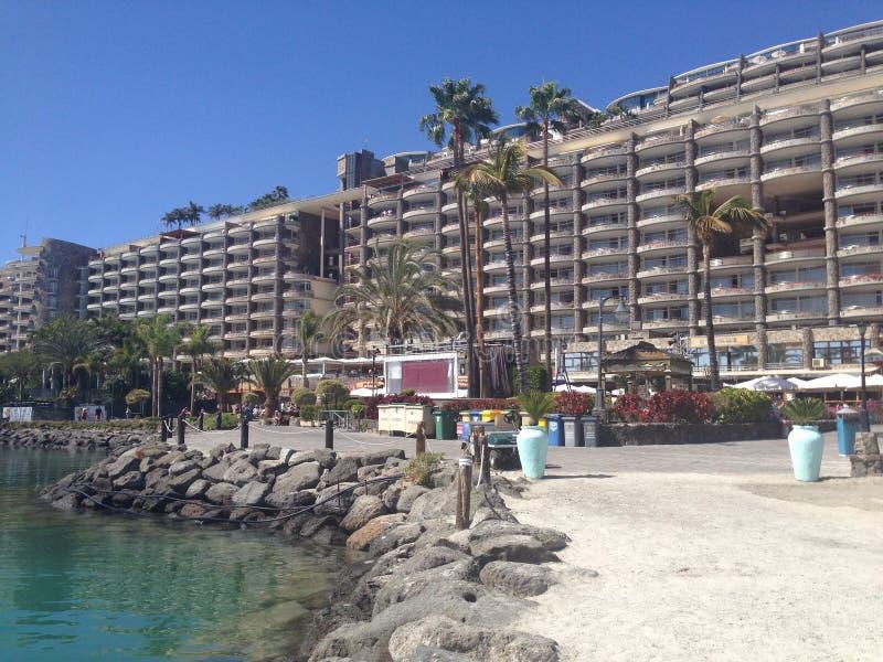 Centro turístico y hotel de Anfi en Canaria magnífica imagen de archivo