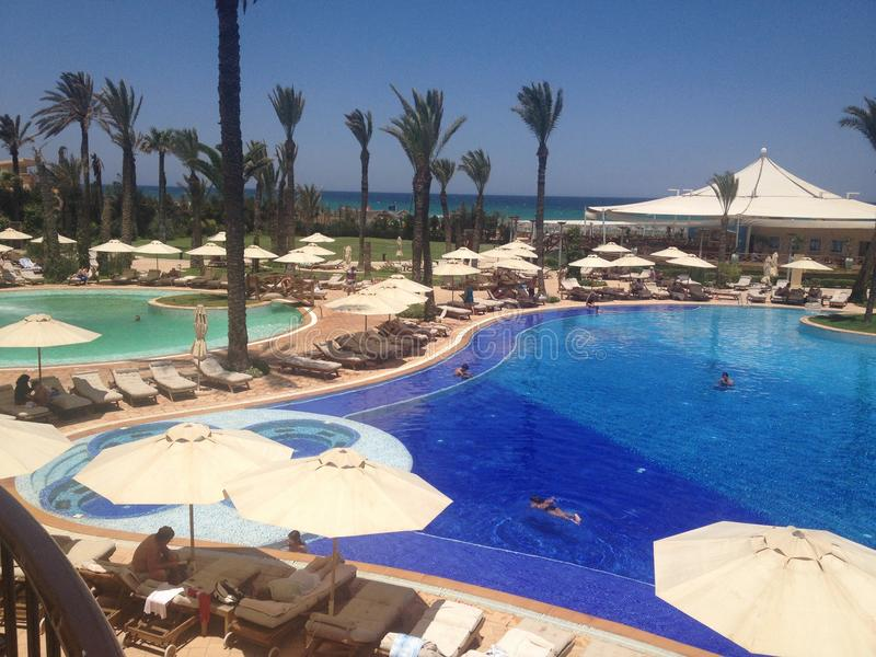 Centro turístico y Marine Spa Sousse de Moevenpick imagen de archivo