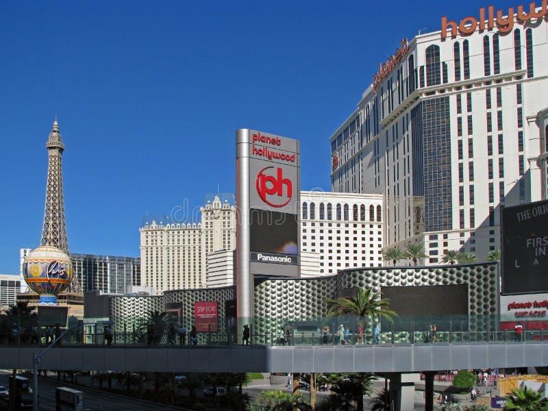 Centro turístico y planeta Hollywood, Las Vegas, Nevada de París fotografía de archivo