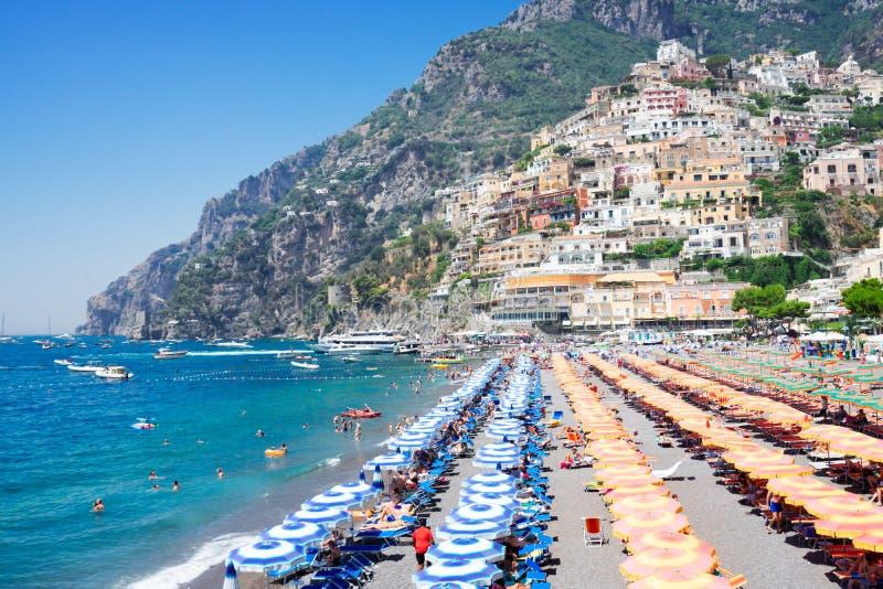 Centro tur?stico de Positano, Italia imágenes de archivo libres de regalías
