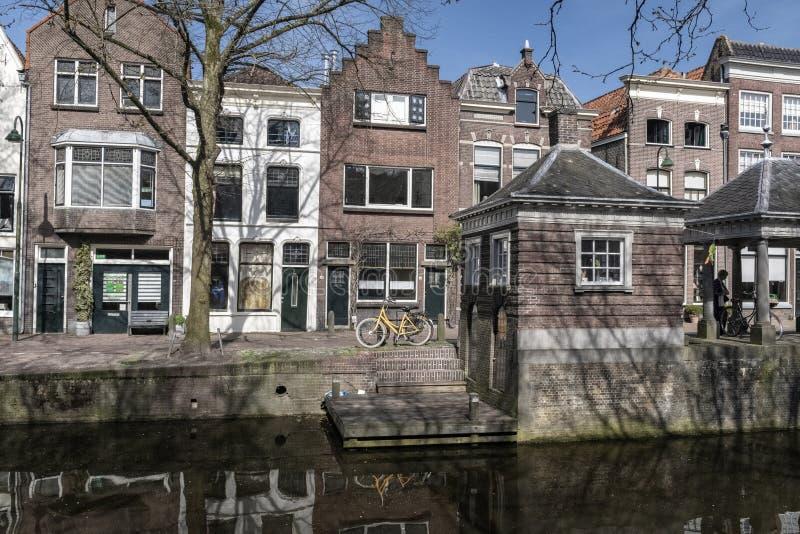 Centro urbano di architettura Gouda Olanda immagine stock