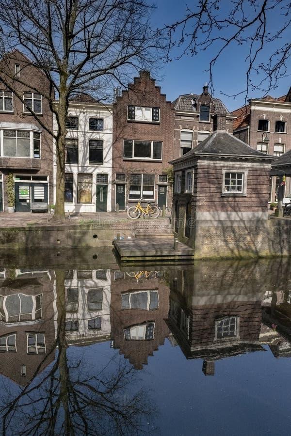 Centro urbano di architettura Gouda Olanda fotografie stock libere da diritti