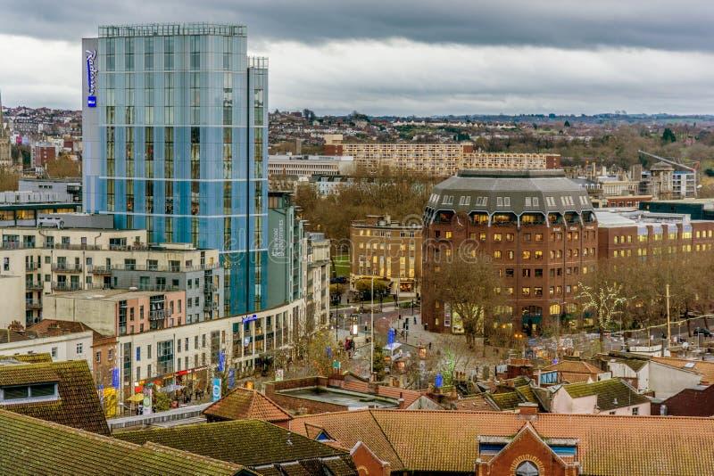 Centro urbano di Bristol immagine stock libera da diritti