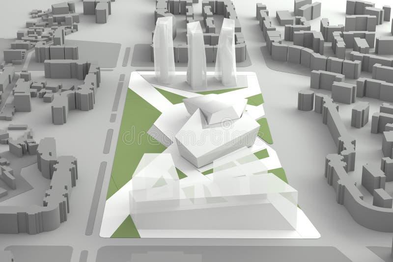 Centro urbano di modello architettonico di Of Downtown Financial royalty illustrazione gratis