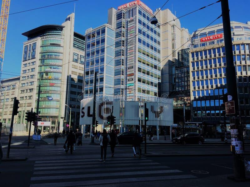 Centro urbano di Oslo fotografia stock