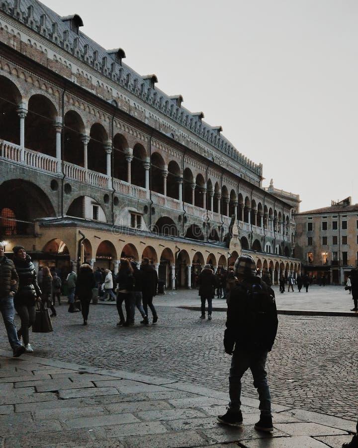 Centro urbano di Padova immagini stock libere da diritti
