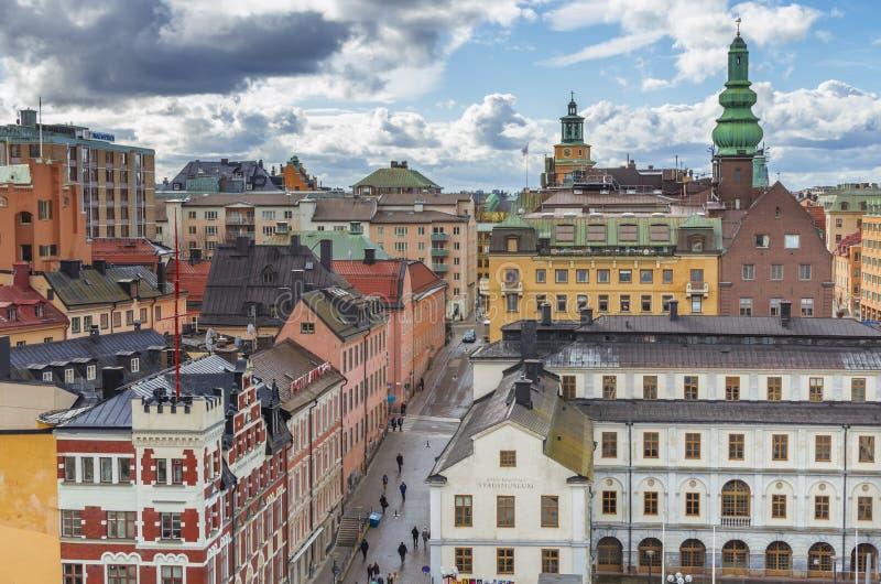 Centro urbano di Stoccolma fotografie stock libere da diritti
