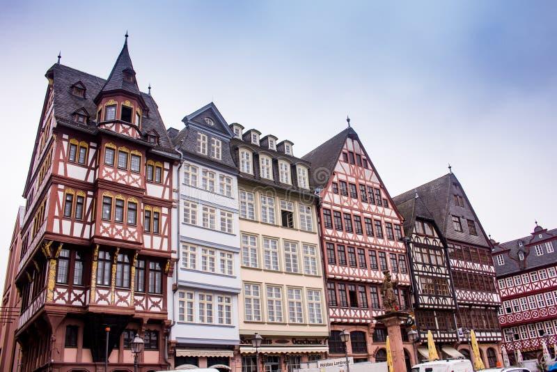 Centro urbano storico Francoforte fotografie stock libere da diritti