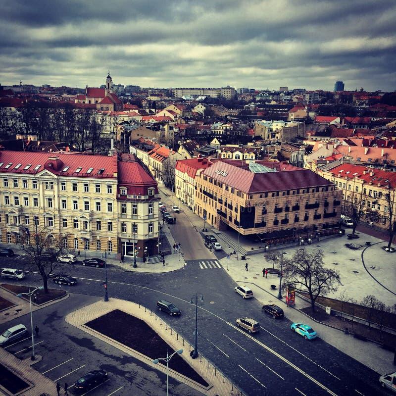 Centro Vilniuse, Lituania fotografia stock