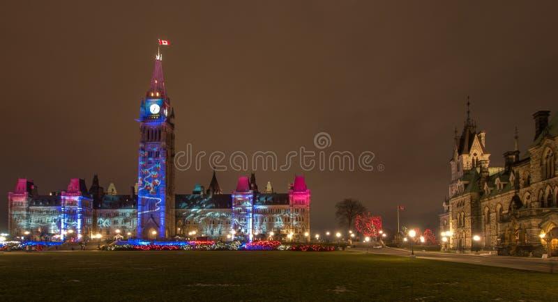 Centro y bloque del este de Ottawa fotos de archivo libres de regalías