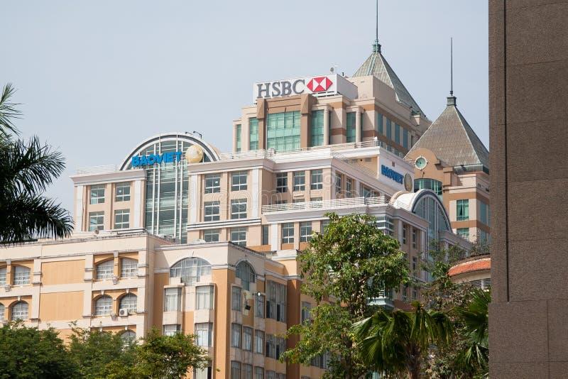 Centros de negócios em Ásia fotografia de stock