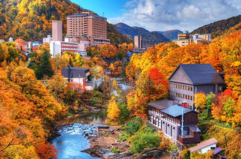 Centros turísticos de los resortes calientes de Jozankei imagen de archivo