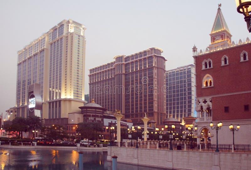Centros turísticos del casino de Macao igualando imagenes de archivo
